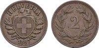 Ku.-2 Rappen 1897, B. SCHWEIZ  Vorzüglich +  60,00 EUR  Excl. 6,70 EUR Verzending