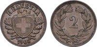 Ku.-2 Rappen 1908, B. SCHWEIZ  Vorzüglich +  20,00 EUR  Excl. 6,70 EUR Verzending