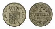 BAYERN Kreuzer 1847. Stempelglanz HERZOGTUM, SEIT 1623 KURF&Uuml;RSTENTUM, SE... 20,00 EUR 