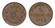 BAYERN Ku.-Pfennig 1869.. Vorz&uuml;glich-stempelglanz HERZOGTUM, SEIT 1623 K... 15,00 EUR 