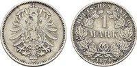 1 Mark 1874, A. Deutsches Reich  Vorzüglich.  35,00 EUR  Excl. 6,70 EUR Verzending