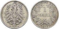 1 Mark 1875, A. Deutsches Reich  Vorzüglich.  40,00 EUR  Excl. 6,70 EUR Verzending