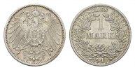 1 Mark 1911, F. Deutsches Reich  Vorzüglich-stempelglanz.  125,00 EUR  excl. 6,70 EUR verzending