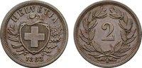 Ku.-2 Rappen 1883, B. SCHWEIZ  Vorzüglich-stempelglanz.  40,00 EUR  Excl. 6,70 EUR Verzending