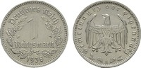 1 Reichsmark 1938, A. DRITTES REICH  Fast Stempelglanz.  35,00 EUR  Excl. 6,70 EUR Verzending