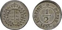 1/2 Kreuzer 1837. WÜRTTEMBERG Wilhelm I., 1816-1864. Vorzüglich-stempel... 120,00 EUR