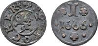 Ku.-Pfennig 1666. ROSTOCK  Sehr schön.  80,00 EUR  zzgl. 4,50 EUR Versand