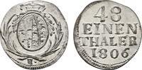 1/48 Taler (Sechser) 1806, H. SACHSEN Friedrich August III. (I.), 1763-... 120,00 EUR  Excl. 6,70 EUR Verzending