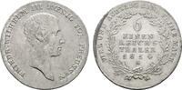1/6 Taler 1814, A. BRANDENBURG-PREUSSEN Friedrich Wilhelm III., 1797-18... 100,00 EUR  excl. 6,70 EUR verzending