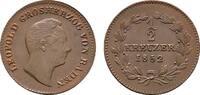 Ku.-1/2 Kreuzer 1852. BADEN Karl Ludwig Friedrich, 1811-1818. Vorzüglic... 80,00 EUR  Excl. 6,70 EUR Verzending
