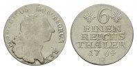 1/6 Taler 1764, E-Königsberg. BRANDENBURG-PREUSSEN Friedrich II., der G... 95,00 EUR  excl. 6,70 EUR verzending
