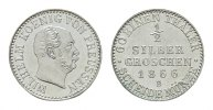 1/2 Silbergroschen 1866, B. BRANDENBURG-PREUSSEN Wilhelm I., 1861-1888.... 90,00 EUR