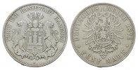 5 Mark 1876, J. Hamburg Freie und Hansestadt. Fast vorzüglich.  165,00 EUR  zzgl. 4,50 EUR Versand