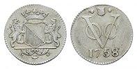 2 1/2 Cents 1758. NIEDERL.-INDIEN Utrecht Kl. Zainende, sehr schön-vorz... 120,00 EUR  zzgl. 4,50 EUR Versand