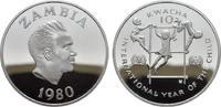 10 Kwacha 1980. ZAMBIA Zweite Republik seit 1972. Polierte Platte.  22,00 EUR  zzgl. 4,50 EUR Versand