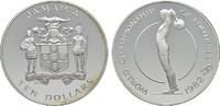 10 Dollars 1982. JAMAIKA Elizabeth II. seit 1952. Polierte Platte.  17,00 EUR  Excl. 6,70 EUR Verzending