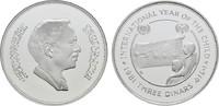 3 Dinars AH1401 = 1981. JORDANIEN Hussein, 1952-1999. Polierte Platte, ... 28,00 EUR  zzgl. 4,50 EUR Versand