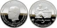 5 Dinars 1982. TUNESIEN Republik seit 1957. Polierte Platte, gekapselt.  33,00 EUR  zzgl. 4,50 EUR Versand