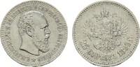 25 Kopeken 1893. RUSSLAND Alexander III., 1881-1894. Sehr schön-vorzügl... 350,00 EUR