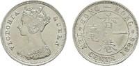 10 Cents 1886. HONG KONG Victoria, 1841-1901. Fast Stempelglanz.  120,00 EUR  Excl. 6,70 EUR Verzending