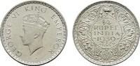 1/4 Rupee 1939. INDIEN George VI., 1936-1947. Vorzüglich-stempelglanz.  30,00 EUR