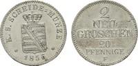 2 Neugroschen (20 Pfennige) 1856 F. SACHSEN Johann, 1854-1873. Stempelg... 95,00 EUR  Excl. 6,70 EUR Verzending