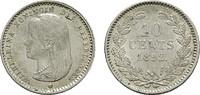 10 Cents 1892. NIEDERLANDE Wilhelmina, 1890-1948. Fast Stempelglanz.  95,00 EUR  Excl. 6,70 EUR Verzending