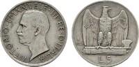 5 Lire 1926 R. ITALIEN Victor Emanuel III., 1900-1946. Sehr schön.  10,00 EUR  Excl. 6,70 EUR Verzending