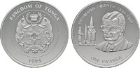 Pa'anga 1993. TONGA Tupou IV, 1965-2006. Polierte Platte.  24,00 EUR  Excl. 6,70 EUR Verzending
