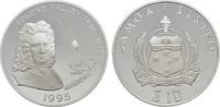10 Tala 1995. WEST-SAMOA  Polierte Platte.  25,00 EUR  Excl. 6,70 EUR Verzending