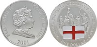 1 Dollar 2001. COOK ISLANDS Elizabeth II. seit 1952. Polierte Platte.  15,00 EUR  Excl. 6,70 EUR Verzending