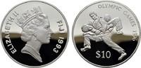 10 Dollars 1993. FIDSCHI INSELN Elizabeth II. seit 1952. Polierte Platte.  20,00 EUR  zzgl. 4,50 EUR Versand