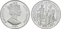 50 Dollars 1989. COOK ISLANDS Elizabeth II. seit 1952. Polierte Platte.  18,00 EUR  zzgl. 4,50 EUR Versand