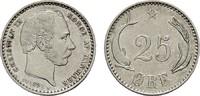 25 Öre 1891. DÄNEMARK Christian IX., 1863-1906. Vorzüglich.  75,00 EUR  zzgl. 4,50 EUR Versand