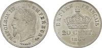 20 Centimes 1864, A. FRANKREICH Napoléon III, 1852-1870. Vorzüglich-ste... 90,00 EUR  zzgl. 4,50 EUR Versand