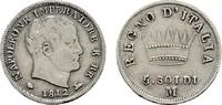 5 Soldi 1812 M ITALIEN Stadt. Sehr schön-vorzüglich.  45,00 EUR  zzgl. 4,50 EUR Versand