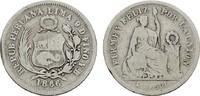 1/5 Sol 1866 YB PERU Republik seit 1822. Sehr schön  8,00 EUR  zzgl. 4,50 EUR Versand