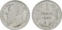 1 Franc 1909 BELGIEN Leopold II., 1865-1909. Sehr schön  8,00 EUR  zzgl. 4,50 EUR Versand