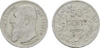 50 Centimes 1909 BELGIEN Leopold II., 1865-1909. Sehr schön  4,00 EUR  zzgl. 4,50 EUR Versand