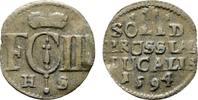 Solidus 1694, HS-Königsberg. BRANDENBURG-PREUSSEN Friedrich III., 1688-... 100,00 EUR  Excl. 6,70 EUR Verzending