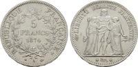 5 Francs 1874, A-Paris. FRANKREICH 3. Republik, 1870-1940. Fast Stempel... 180,00 EUR  Excl. 6,70 EUR Verzending