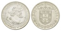 PORTUGAL 50 Escudos 1. REPUBLIK, 1910-1974.