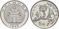 5 Yuan 1993. CHINA Volksrepublik. Stempelglanz  85,00 EUR  Excl. 6,70 EUR Verzending
