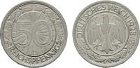 50 Reichspfennig 1928, D. WEIMARER REPUBLIK  Vorzüglich  9,00 EUR  Excl. 7,00 EUR Verzending