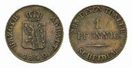 ANHALT Ku.-Pfennig 1840. Fast vorz&uuml;glich ANHALT-K&Ouml;THEN, F&Uuml;RSTENTUM, SEIT... 18,00 EUR 