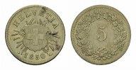 5 Rappen 1850, BB. SCHWEIZ  Kleiner Fleck. Vorzüglich-stempelglanz  85,00 EUR  excl. 6,70 EUR verzending