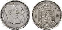 1 Franc 1880. BELGIEN Leopold II., 1865-1909. Vorzüglich-stempelglanz  80,00 EUR