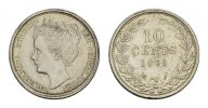 NIEDERLANDE 10 Cents 1905. Vorz&uuml;glich-stempelglanz K&Ouml;NIGREICH DER NIEDER... 80,00 EUR 