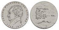 Silbermedaille 1982. PERSONENMEDAILLEN von Goethe, Johann Wolfgang. *17... 85,00 EUR  excl. 6,70 EUR verzending