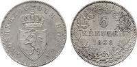 6 Kreuzer 1838. HESSEN Ludwig II., 1830-1848. Fast Stempelglan; etwas f... 100,00 EUR  zzgl. 4,50 EUR Versand
